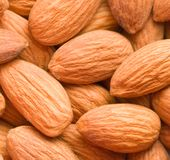Spilled almonds royalty free stock photography
