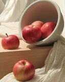 Spilled apples Royalty Free Stock Image