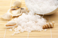 Spilled bath salt Royalty Free Stock Photo