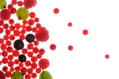 Spilled  berries Royalty Free Stock Image