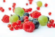 Spilled  berries Stock Photography