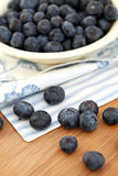 Spilled Blueberries Stock Photo