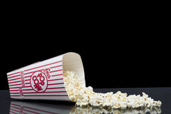 Spilled box of popcorn Royalty Free Stock Image