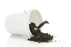 Spilled bucket of Dirt Royalty Free Stock Photo