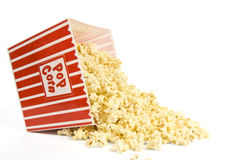 Spilled Bucket of Popcorn Stock Image