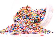 Spilled Cake Decoration Sprinkles Royalty Free Stock Image