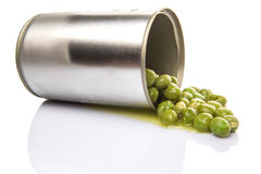 Free Spilled Canned Green Peas II Royalty Free Stock Image - 42271556