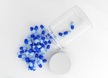 Spilled capsule pills Stock Images