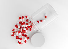 Spilled capsule pills Royalty Free Stock Photos