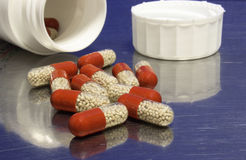 Spilled capsules Royalty Free Stock Photo