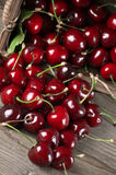 Spilled cherries Royalty Free Stock Photography
