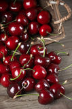 Spilled cherries Royalty Free Stock Images