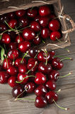 Spilled cherries Stock Image
