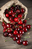 Spilled cherries Stock Images