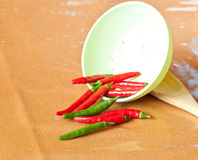 Spilled Chili Peppers Royalty Free Stock Photos