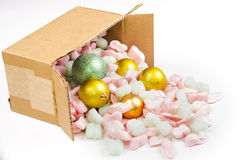 Spilled Christmas balls Royalty Free Stock Photos
