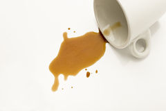 Spilled coffee Stock Image
