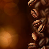 Spilled coffee beans Royalty Free Stock Image