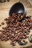 Spilled coffee beans Royalty Free Stock Photography