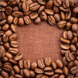 Coffee beans frame Royalty Free Stock Photo