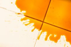 Spilled coffee Stock Images