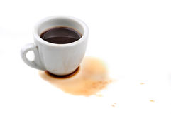 Spilled coffee Royalty Free Stock Images