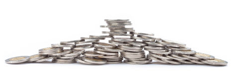 Spilled coins Royalty Free Stock Image