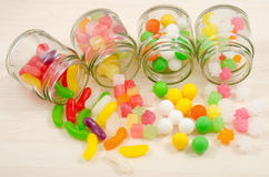 Spilled colorful sweets Royalty Free Stock Photos