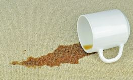 A Spilled Cup of Coffee Royalty Free Stock Photo