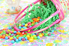 Spilled Easter Basket Royalty Free Stock Photo