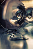 Spilled glass of martini closeup Royalty Free Stock Photo
