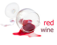 Spilled glass of wine Stock Images