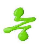 Spilled green nail polish Royalty Free Stock Photos