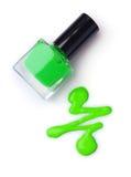Spilled green nail polish Royalty Free Stock Image