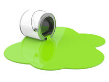 Spilled green paint Royalty Free Stock Photo