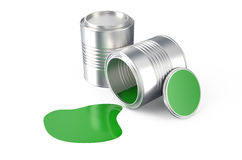 Spilled green paint Royalty Free Stock Photography