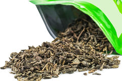 Spilled green tea Royalty Free Stock Photography