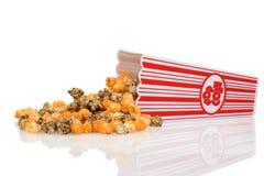 Spilled halloween popcorn Stock Photos
