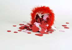 Spilled hearts Stock Photography