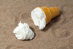 Spilled ice cream sundae Stock Photo