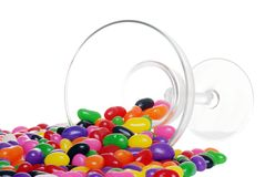 Spilled jelly beans from a margarita glass Stock Photo