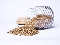 Spilled lentils stock image