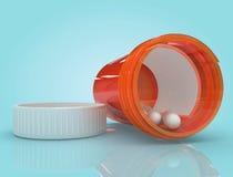 Spilled Medication. Spilled bottle of prescription medication Stock Photography