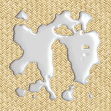 Spilled Milk !. 3d image of milk spilled on placemat Royalty Free Stock Photo