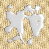 Spilled Milk !. 3d image of milk spilled on placemat vector illustration