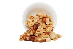 Spilled mixed nuts Royalty Free Stock Photo
