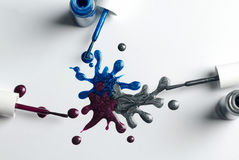 Spilled nail polish Stock Photography