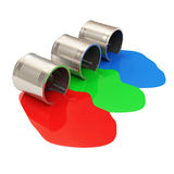 Spilled Paint Cans Stock Image