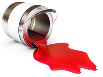 Spilled Paint Cans Royalty Free Stock Photos