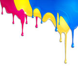 Spilled paint. On a white background Stock Photo
